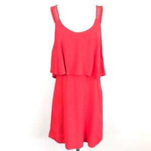 Anthropologie Maeve Tisana Dress Layered Red